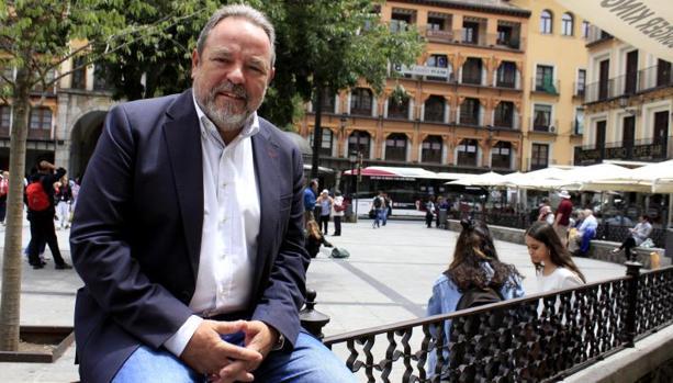 Jesús Labrador, en la plaza de Zocodover