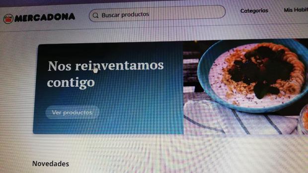 Imagen de la nueva página web de Mercadona