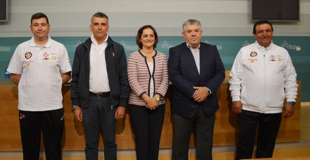El campeonato de Europa de Foso Universal se ha presentado en la Diputación de Toledo, propietaria del campo de tiro de «La Bastida»