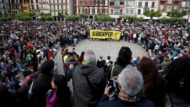 Manifestación por el ingreso en prisión de cuatro de los condenados