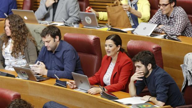 Parte del grupo parlamentario de Podemos, en una imagen de archivo