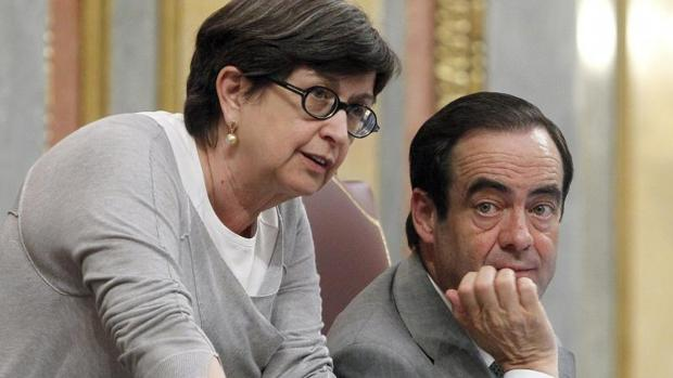 Cunillera, y José Bono, durante su etapa como vicepresidenta del Congreso
