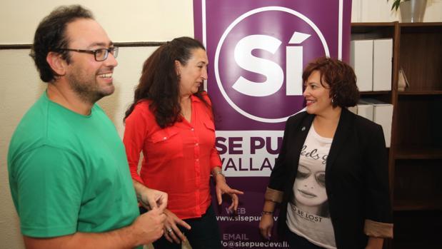 Los tres concejales de Sí se puede en el Ayuntamiento de Valladolid