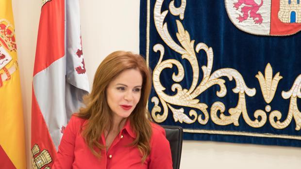 La presidenta de las Cortes de Castilla y León, Silvia Clemente