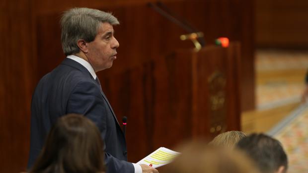 Ángel Garrido, presidente del Gobierno regional, en la Asamblea de Madrid