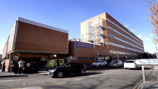 Entrada al servicio de Urgencias del hospital Virgen de la Salud de Toledo