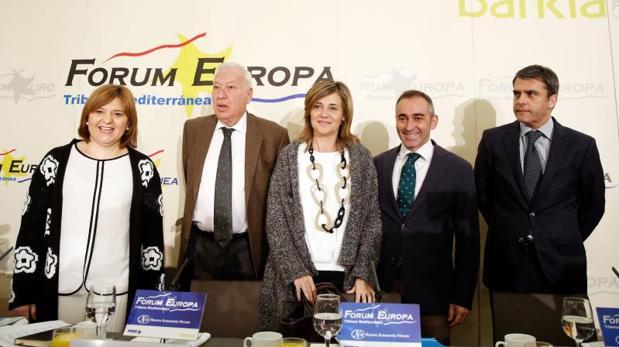 Bonig y Margallo en un acto con candidatos del PP al Congreso