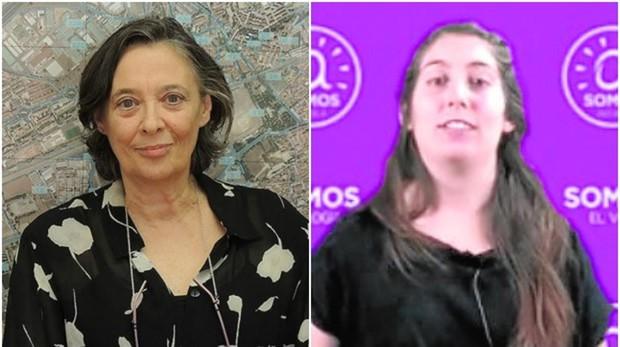 La edil de Vivienda e Infraestructuras de Alcalá, Olga García (izq.) y Gloria Morata