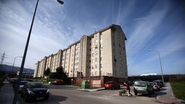 Imagen de archivo de un bloque de viviendas en O Porriño