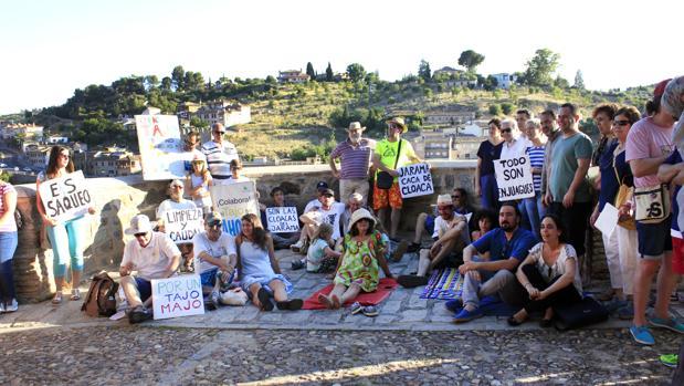 La manifestación arrancó en el Baño de la Cava hasta la plaza de Zocodover