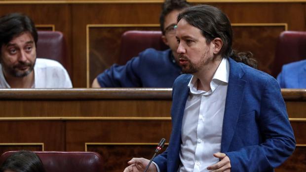 Pablo Iglesias, hoy en el Congreso de los diputados