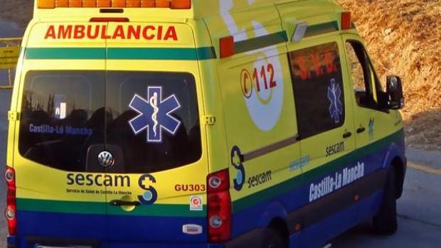 Ambulancia del Servicio de Salud de Castilla-La Mancha