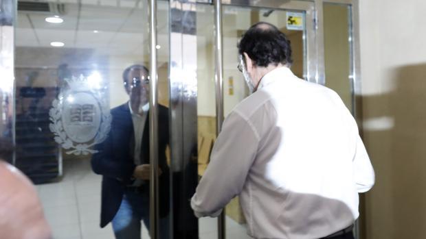 Imagen de Mariano Rajoy tomada este miércoles a su llegada al Registro de la Propiedad de Santa Pola