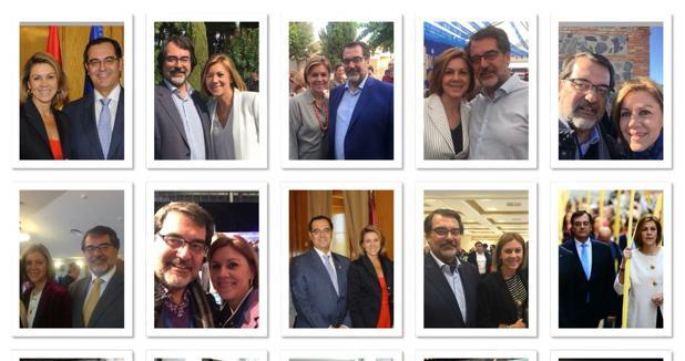 Fernando Jou ha elegido un tweet con varias imágenes de él con Cospedal