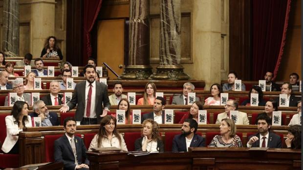 Los diputados de Ciudadanos con los ejemplares de «El Quijote»
