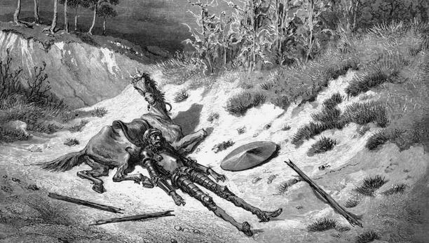 Illustración de Gustave Doré sobre El Quijote