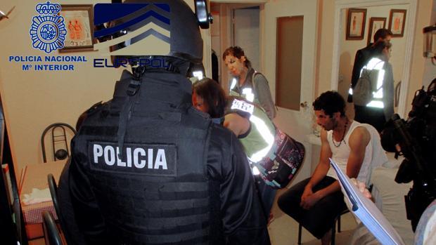 La operación ha sido desarrollada por Policía Nacional junto con Europol en varias provincias españolas