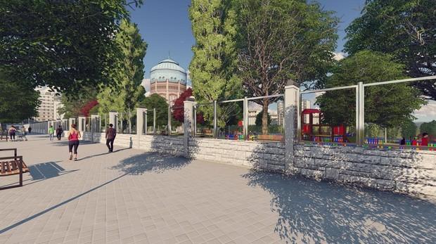 Recreación del futuro parque de Santa Engracia