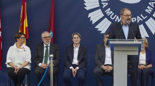 El delegado de Seguridad, Javier Babero, durante la celebración del Patrón de la Policía Municipal