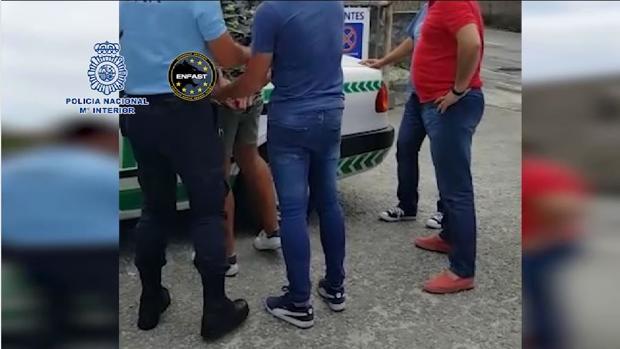 Imágenes de la detención del hombre en Portugal