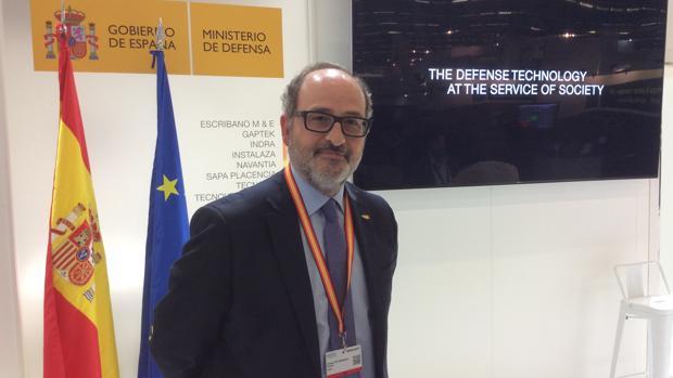 Jaime de Rábado en la Feria de Defensa Eurosatory, celebrada en París recientemente
