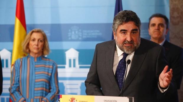 Rodríguez uribes, ayer, durante la toma de posesión como delegado del Gobierno
