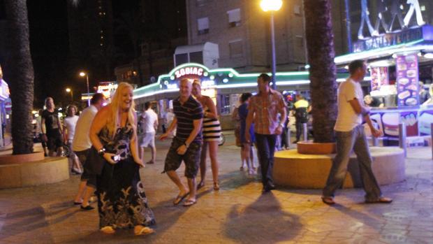 Imagen de archivo de una noche en Benidorm