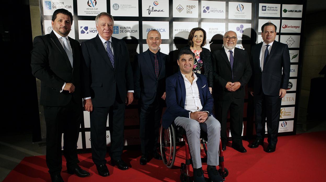 Los Empresarios gallegos de Cataluña premian al actor Javier Gutiérrez