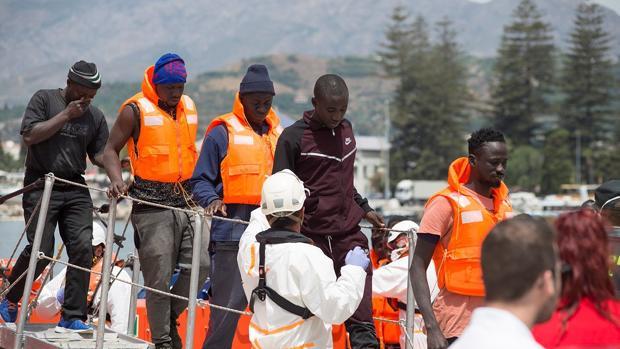 Imagen del pasado día 7 de junio cuando llegaron a Motril tras ser rescatados