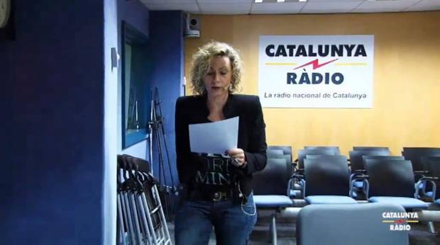 Terribas, en el estudio de Catalunya Ràdio