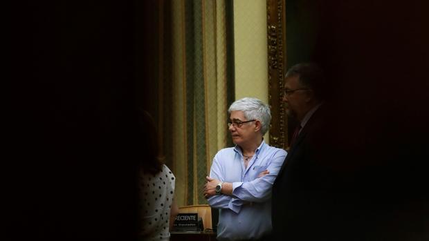 El maquinista, momentos antes de su comparecencia en el Congreso