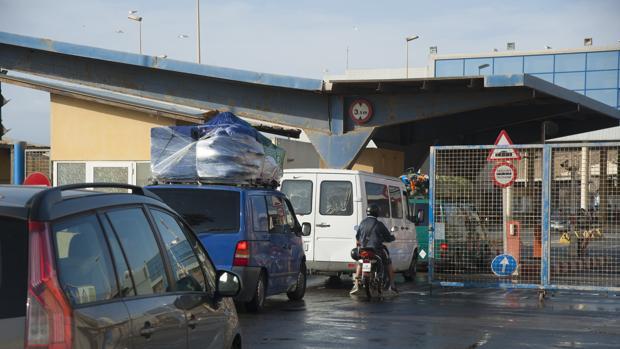 Imagen de archivo de la frontera de El Tarajal, que separa Ceuta de Marruecos