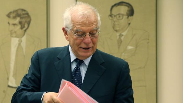 El ministro de Asuntos Exteriores, Josep Borrell, esta semana en el Congreso