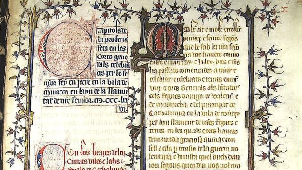 Un detalle del manuscrito descubierto