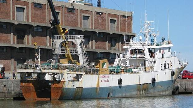 Imagen de archivo del «Dorneda», el pesquero gallego que se hundió en Argentina