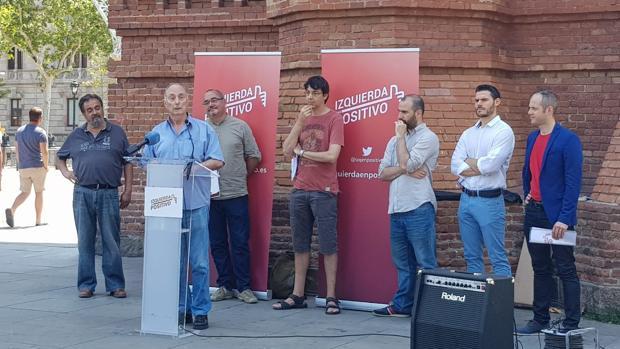 Frutos, durante la presentación del aprtido, hoy, en Barcelona
