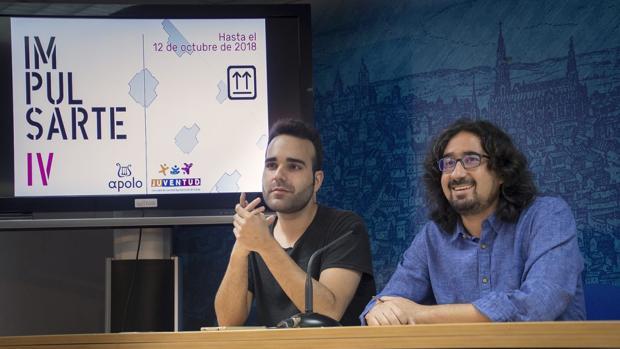 Mejías y Uceta en la presentación de la nueva convocatoria del Programa «Impulsarte»