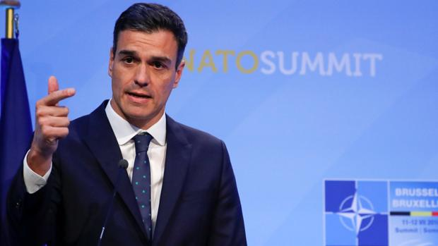 Pedro Sánchez, presidente del Gobierno, en la cumbre de la OTAN
