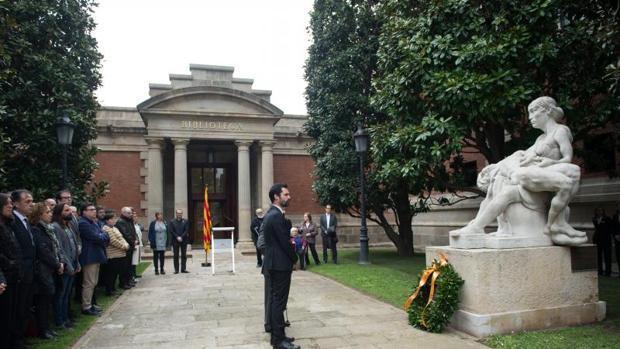 Homenaje a la República en el Parlament, en abril de este año