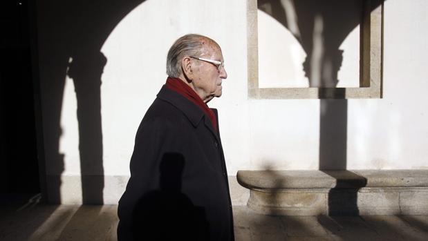 Fernández Albor, en una imagen de 2013, durante un homenaje que se le rindió en Compostela