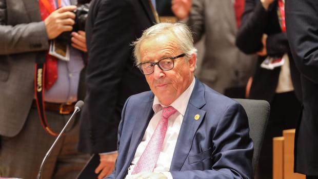 El presidente de la Comisión Europea, Jean-Claude Juncker, durante una reunión con los estados miembros