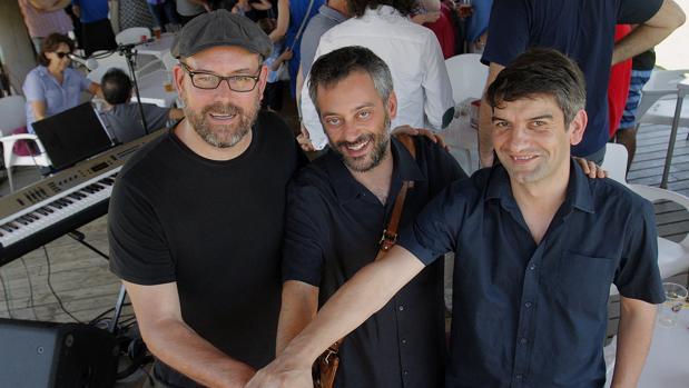 Noriega junto a los alcaldes de La Coruña y Ferrol en una imagen de archivo