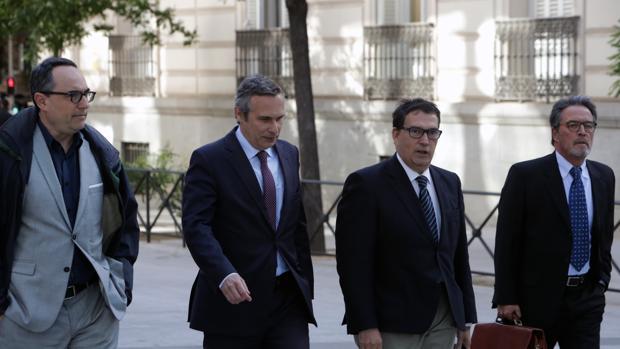 El historiador Josep Lluis Alay a su llega a la Audiencia Nacional