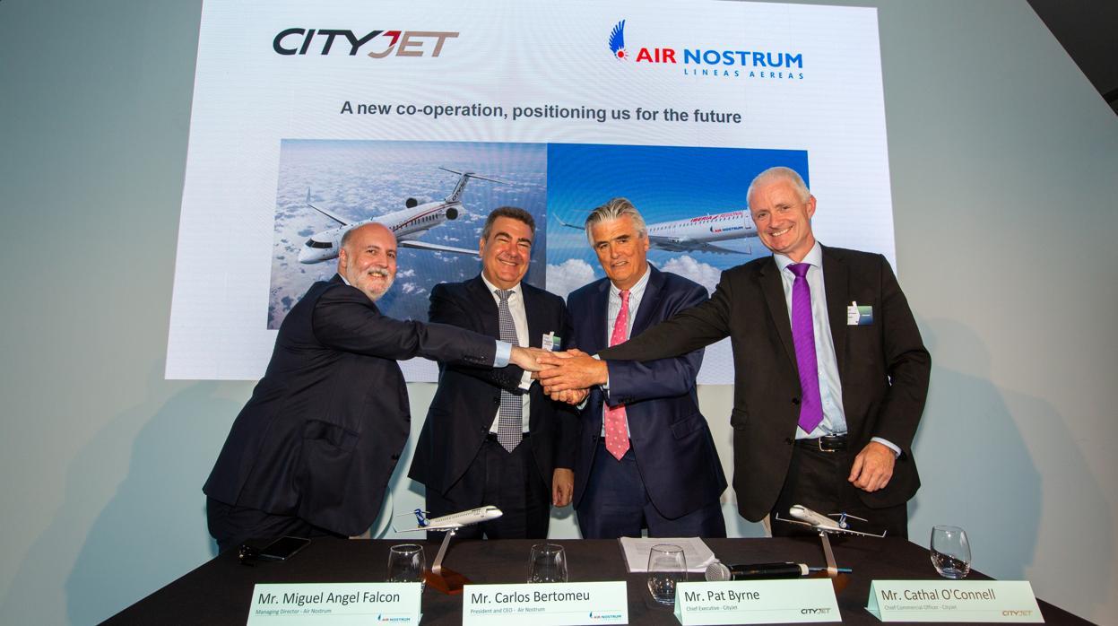 Air Nostrum y CityJet se unen para crear el mayor grupo europeo de aerolíneas regionales