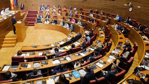 Imagen de archivo del hemiciclo de las Cortes Valencianas