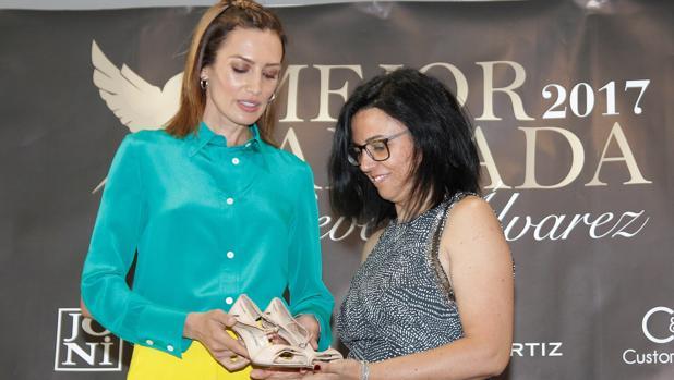 Imagen de Nieves Álvarez tomada este miércoles en el Museo del Zapato de Elda