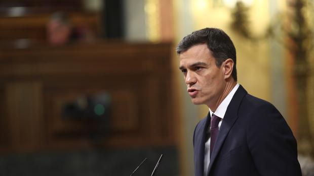 Imagen de Pedro Sánchez tomada este martes en el Congreso