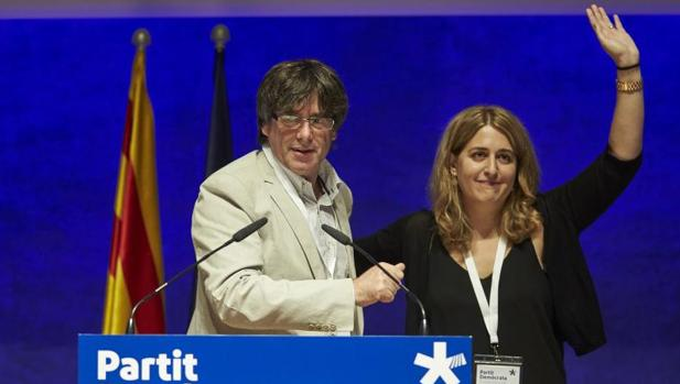 Puigdemont y Pascal, en 2017 durante un consejo del PDECat