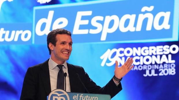 Pablo Casado, durante su intervención para presentar su programa