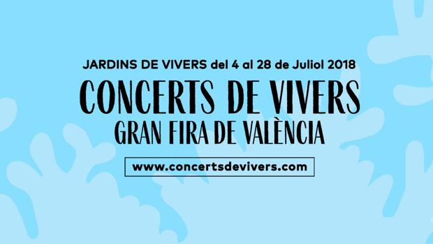 Imagen del cartel que anuncia los Conciertos de Viveros